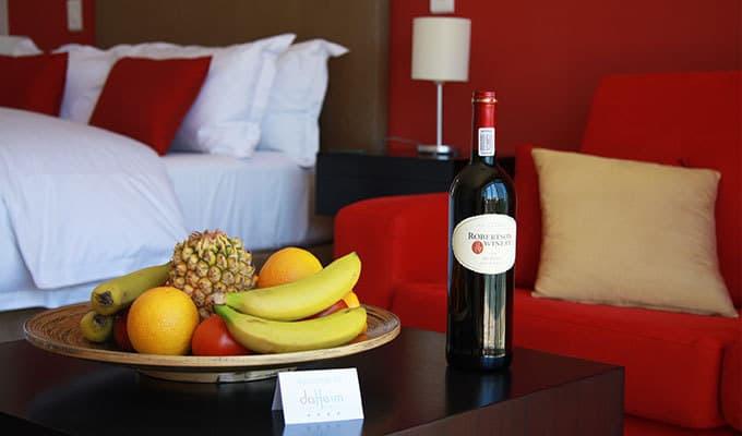 da heim Guesthouse Obstschale und Wein
