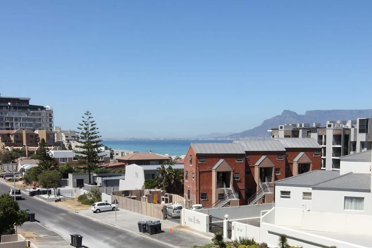 View of Table mountain from coral beach apartment