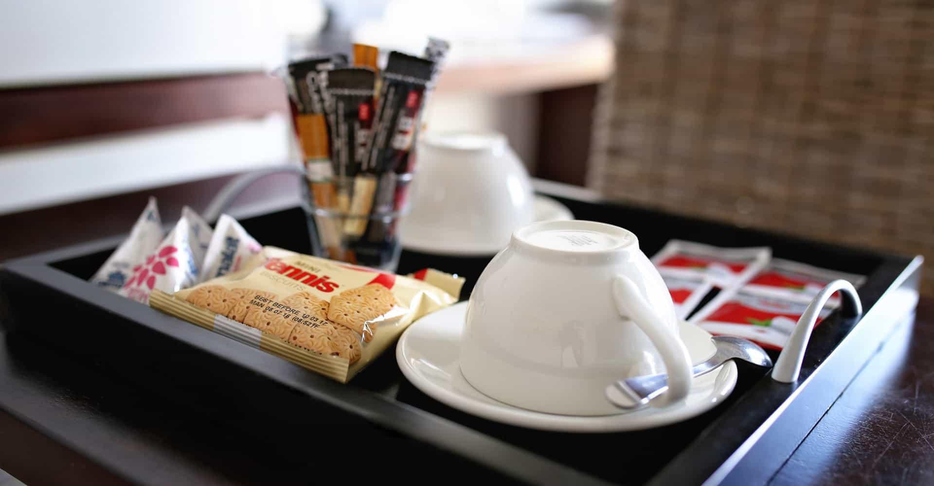 Kaffee und Tee zur Zubereitung im Appartement - coffee and tee to prepare at wish
