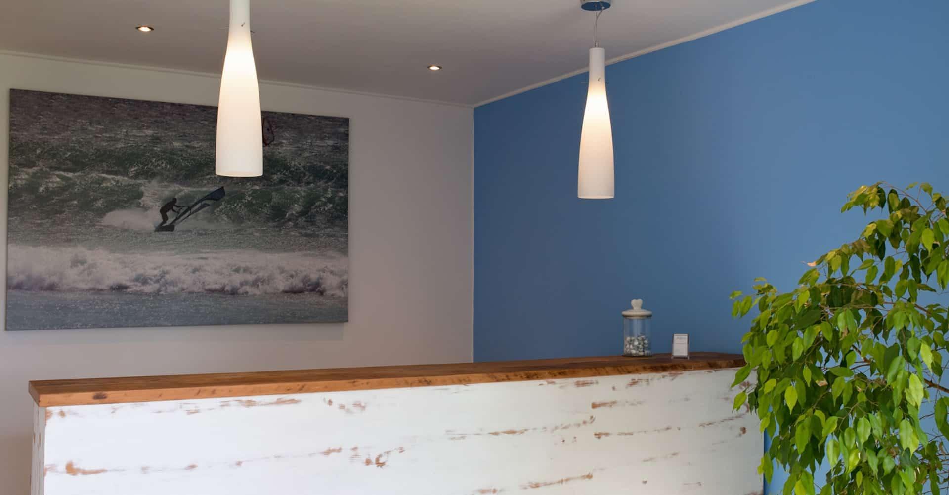 Empfangstresen für Appartements des da heim Guesthouse in Kapstadt